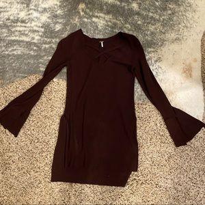 Free people cross neck sweater size XS